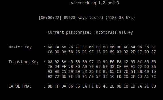 aircrack-ng screenshot